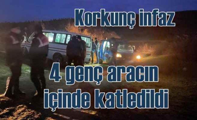 Manisa Ahmetli'de korkunç cinayet   4 genç katledildi