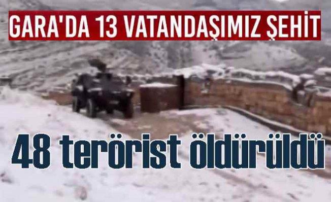 Pençe Kartal - 2 harekatı | PKK kaçırdığı 13 vatandaşı katletti