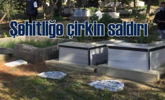 Şehitliğe çirkin saldırı | 80 mezar tahrip edildi