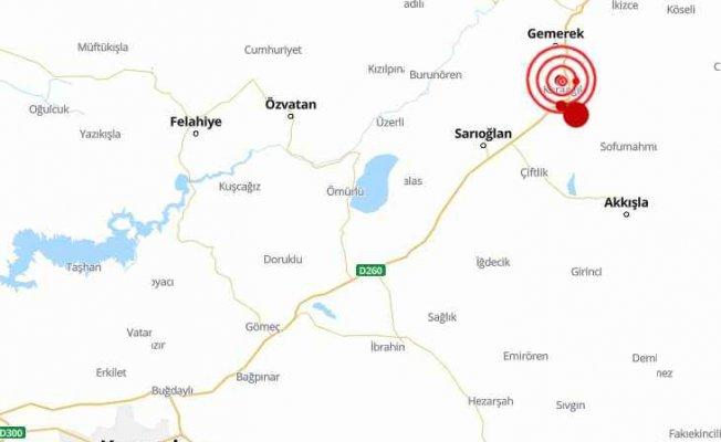 Sivas'ta deprem oldu Kayseri sallandı | Sivas Gemerek 4.7 ile sallandı