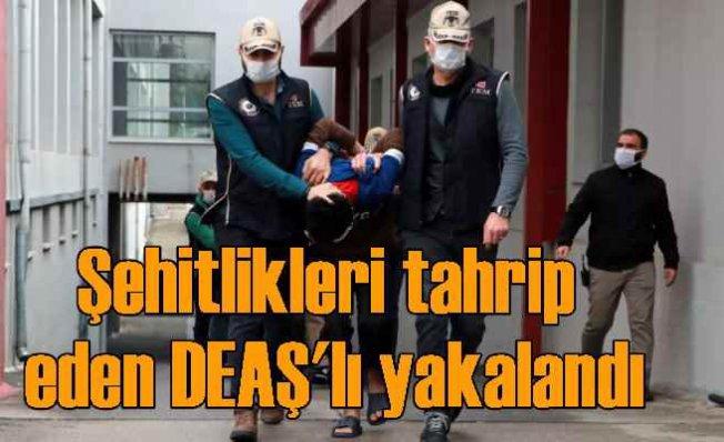 Şehitlik ve mezarları DEAŞ'lı teröristler tahrip etmiş