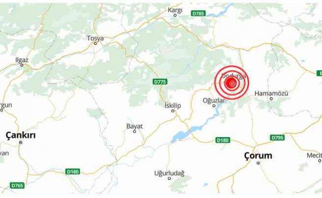 Çorum'da deprem   Çorum Dodurga 4.4 ile sallandı