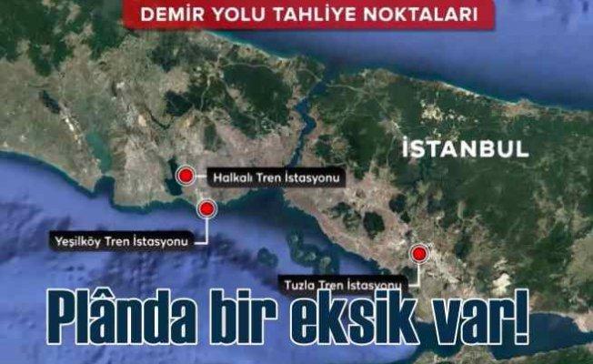 Deprem tahliye planında Kanal İstanbul unutuldu