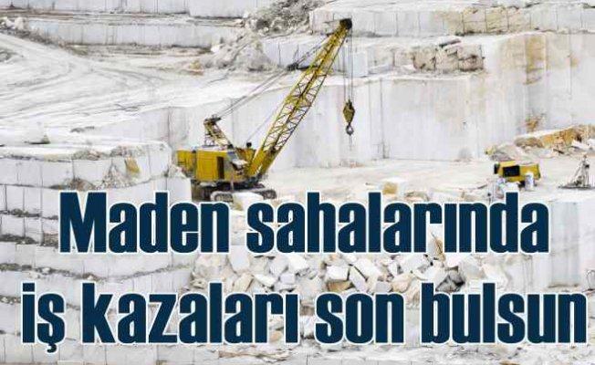 Egeli madenciler iş kazalarının önlenmesine odaklandı