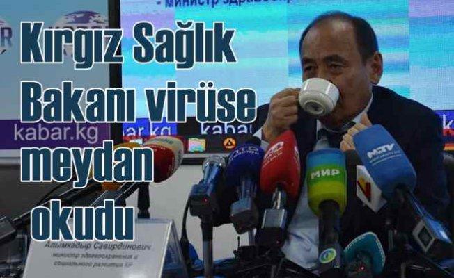 Kırgız Sağlık Bakanı Kurtboğan otu ile virüse meydan okudu