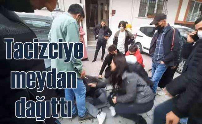 Tacizciye vatandaştan meydan dayağı | Evire çevire darp ettiler