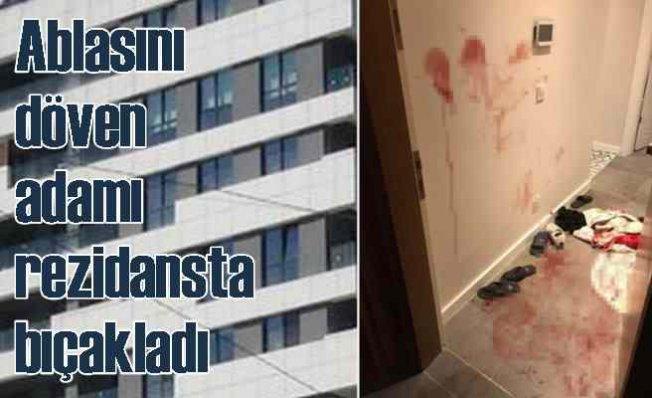Ablasına küfreden adamı, lüks rezidansta bıçakladı