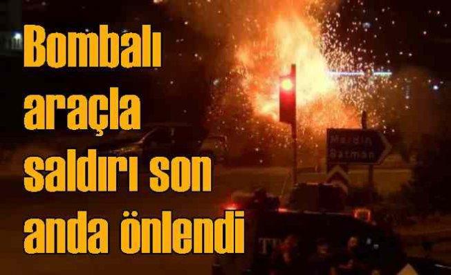 Diyarbakır'da bombalı araçla saldırı son anda önlendi