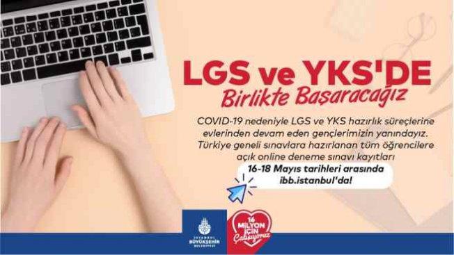 İBB'den öğrencilere LGS - YKS sınav desteği