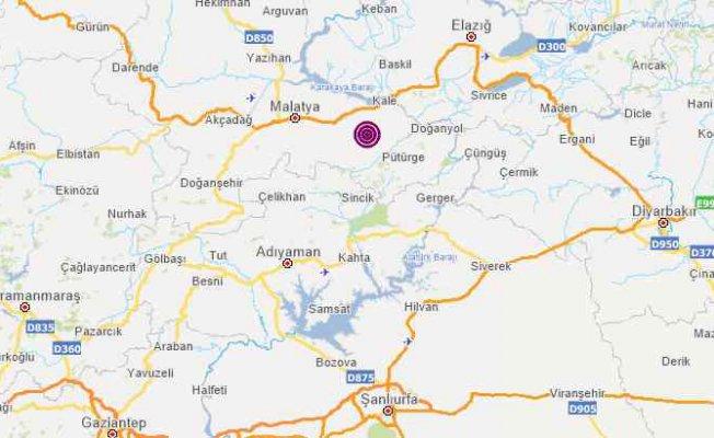 Malatya'da deprem   Malatya 2 ayrı depremle sallandı