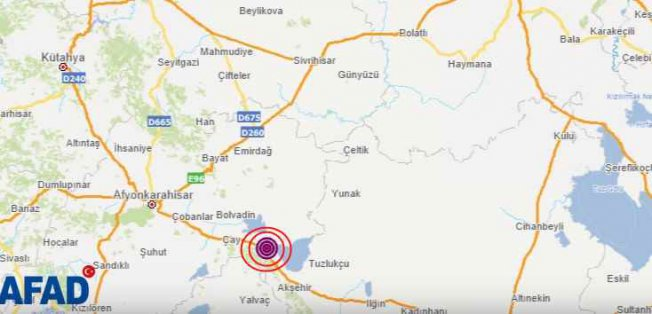 Afyon Sultandağı'nda deprem oldu