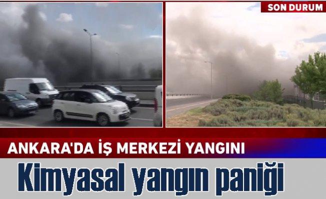 Ankara'da yangın   ATB iş merkezinde çıkan yangın trafiği felç etti