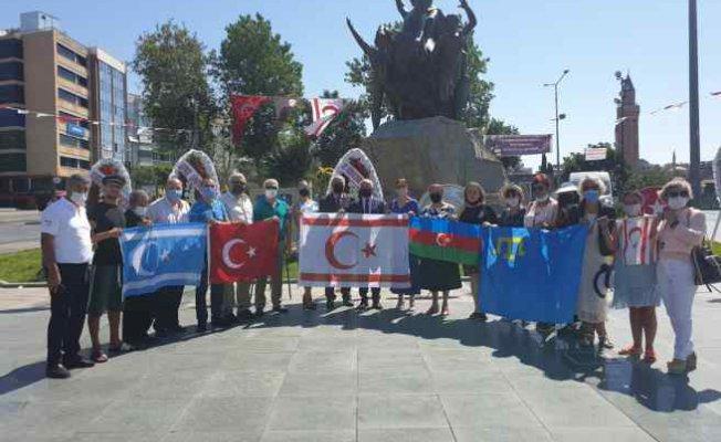 Antalya'da Kıbrıs Türk Cumhuriyeti 47'nci yıl coşkusu
