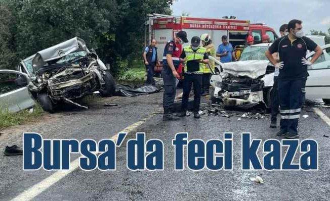 Bursa'da feci kaza   4 can kaybı var