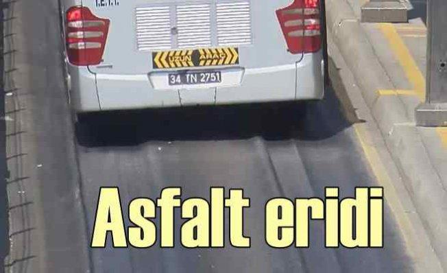 İstanbul'da sıcaklar asfaltı eritti | 42 dereceyi gördük