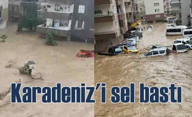 Karadeniz'de sel baskınları hayatı durdurdu