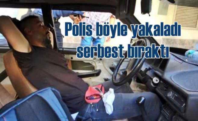 Kilidini kırarak girdi | Araçta uyuyakalan şüpheliyi polis salıverdi