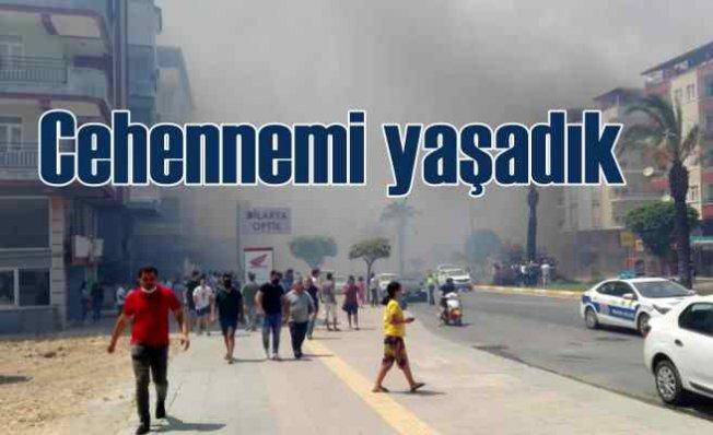 Manavgat'ta orman yangını   4 köy boşaltıldı