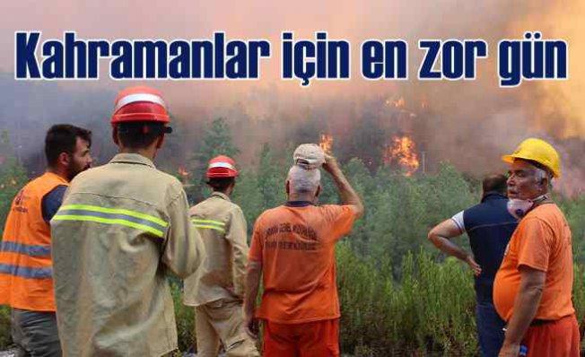 Manavgat'ta orman yangını | İki söndürme görevlisi can verdi