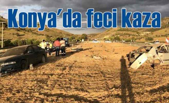 Seydişehir Konya yolunda feci kaza   4 kişi can verdi