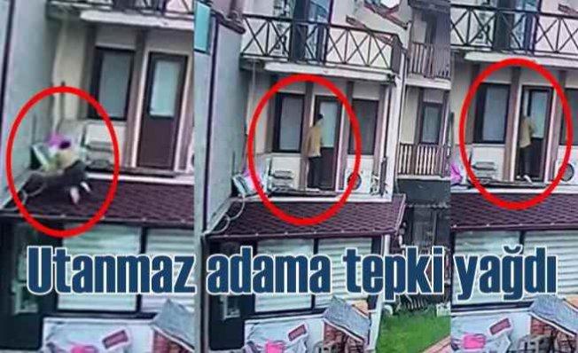 Tacizci komşu isyan ettirdi   Balkondan genç kadının evine girdi