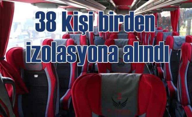 Yolcu otobüsünde koronavirüs paniği   38 kişi izole edildi