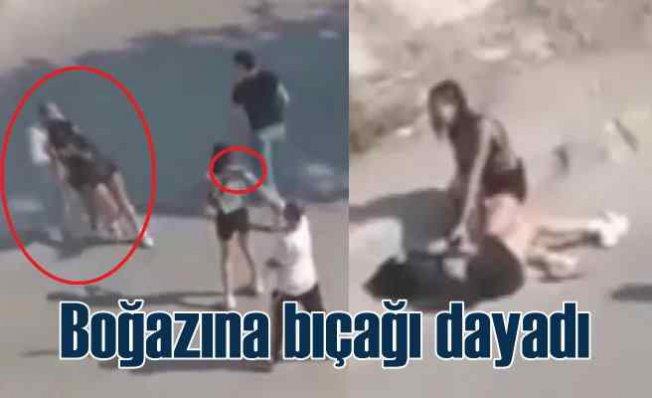 Genç kızı yol ortasında bıçakla kaçırmaya kalktı