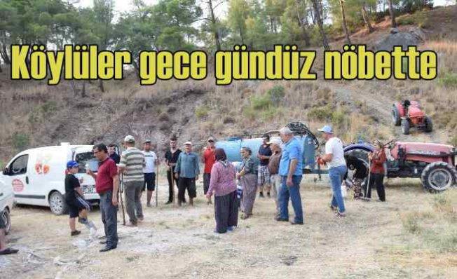 Köylüler nöbette   Araçların plâkasını bile alıyorlar
