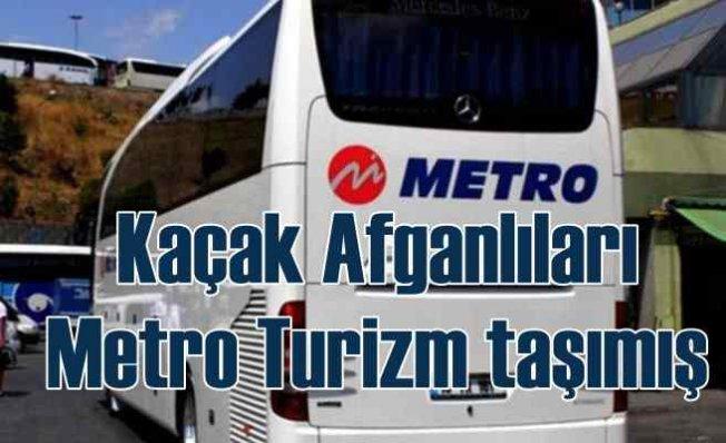 Metro Turizm Afganlı'ları taşımış