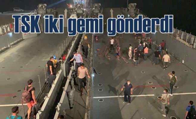 Milas'a çıkarma gemileri gönderildi   Tahliye başladı