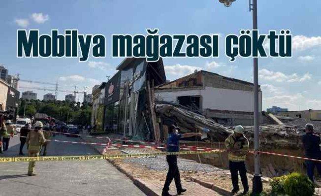 Mobilya magazası çöktü | Bina kağıt gibi yırtıldı