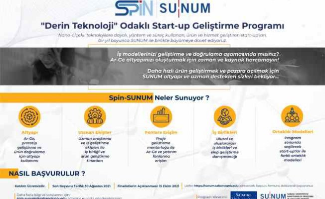 Sabancı Üniversitesi'nden Nano-Teknoloji Start-up'larına Destek