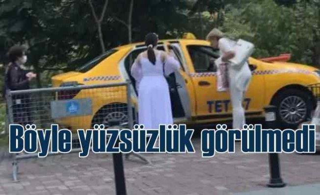 Uyanık taksici muhabirleri görünce para üstünü geri getirdi