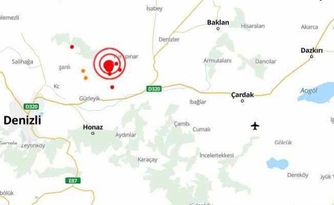 Denizli'de deprem   Denizli Çal 3.4 ile sallandı