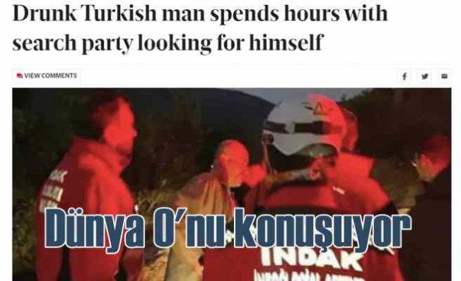 Kendini arayan adam dünya basınında geniş yer buldu
