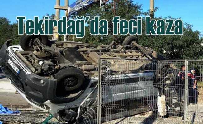 Tekirdağ Ergene'de feci kaza   6 can kaybı var