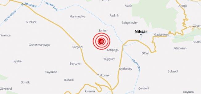 Tokat Niksar'da deprem | Niksar 4.4 ile sallandı