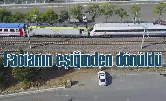 Tuzla'da tren faciasından dönüldü   YHT ile yük treni kafa kafaya geldi