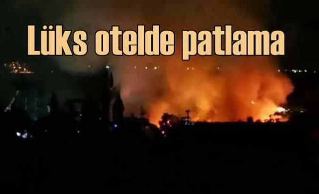 Lüks otelin yakıt tankı patladı, yangın güçlükle söndürüldü