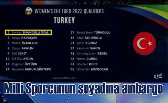 TRTSpor'da milli oyuncunun soyadına ambargo