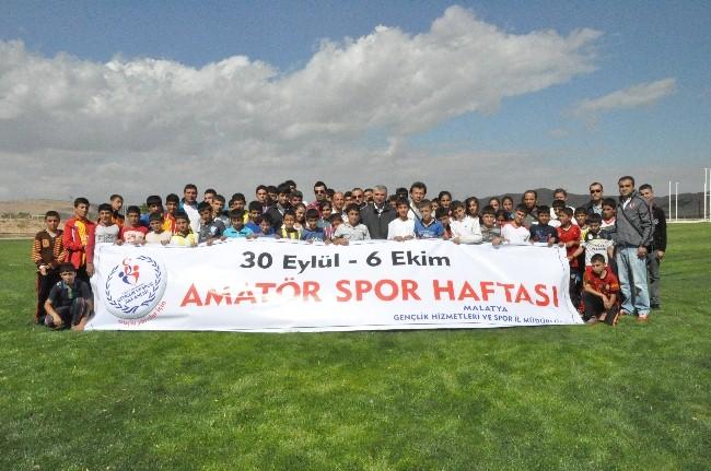 'AMATÖR SPOR HAFTASI' ATLETİZM YARIŞMALARI YAPILDI