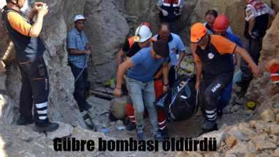 Defineciyi gübre bombası öldürdü