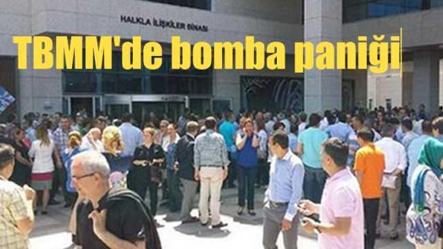 Flaş, TBMM'de bomba paniği