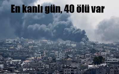 Gazze'de en kanlı gün, iki saatlik ateşkes için 40 ölü
