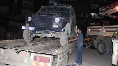 Hakkari'de zırhlı araç uçuruma yuvarlandı