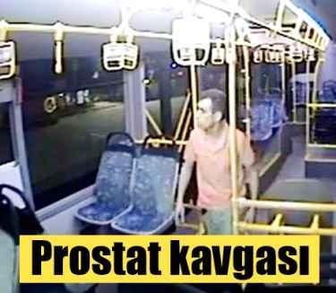 Halk otobüsünde prostat tartışması kavgaya döndü