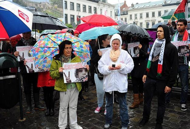 İsrail'in saldırıları İspanya ve Belçika'da protesto edildi