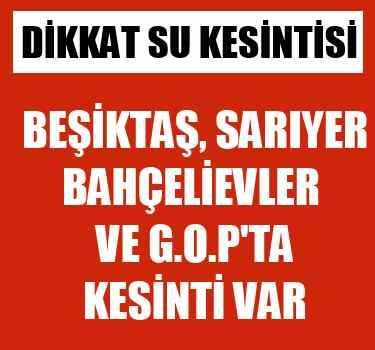 İstanbul'da 4 ilçede su kesintisi var YENİ