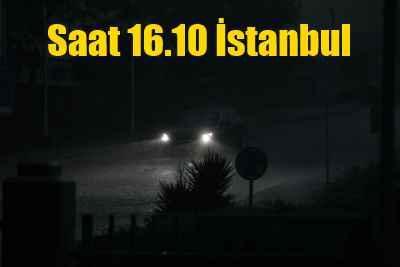 İstanbul'u yağmur fırtına vurdu