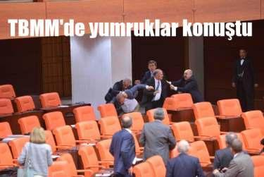 Meclis'te tekme tokat kavga, 60 vekil yumruklaştı